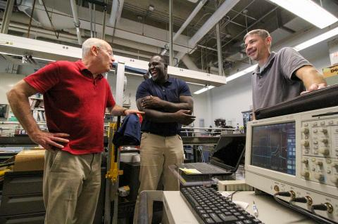 MAE professor Amos Gilat, Windpact founder and chief executive Shawn Springs, and MAE research associate Jeremy Seidt (Right)