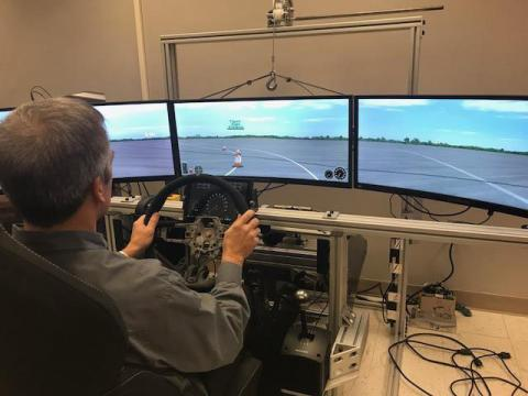 Chrstos uses Driver-in-the-Loop (DiL) simulator technology to test vehicle dynamics under a variety of simulated conditions.